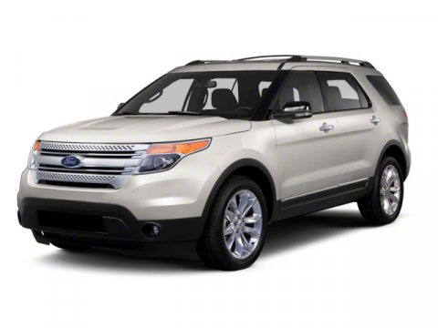 2013 Ford Explorer XLT White V6 35L Automatic 12 miles  Four Wheel Drive  Tow Hooks  Power S