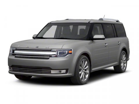 2013 Ford Flex SEL Tuxedo Black MetallicDUNE LEATHER V6 35L Automatic 11 miles  All Wheel Driv