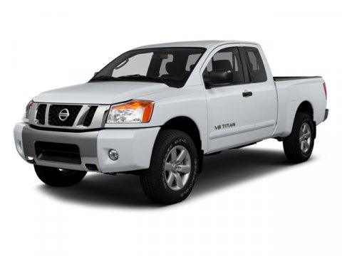 2013 Nissan Titan S Glacier White V8 56L Automatic 10 miles  Rear Wheel Drive  Power Steering