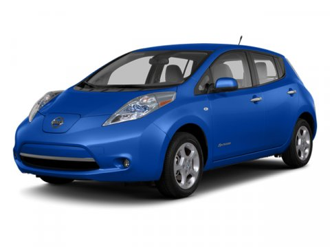 2013 Nissan LEAF SL Blue Ocean V  Automatic 6 miles  Electric Motor  Keyless Start  Front Whe