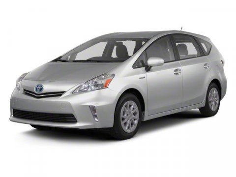 2013 Toyota Prius v Five Classic Silver Metallic V4 18L Variable 5 miles  Keyless Start  Fron