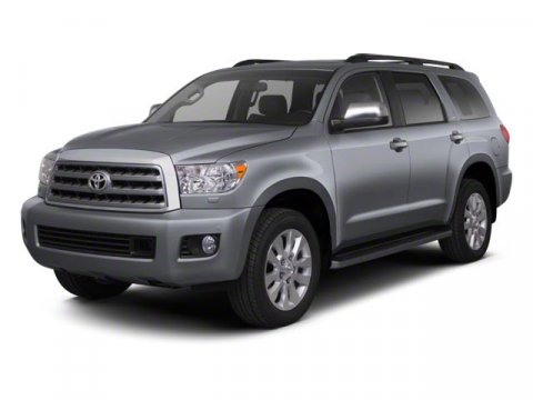 2013 Toyota Sequoia SR5 Magnetic Gray MetallicGray V8 57L Automatic 5 miles  AUTO-DIMMING REAR