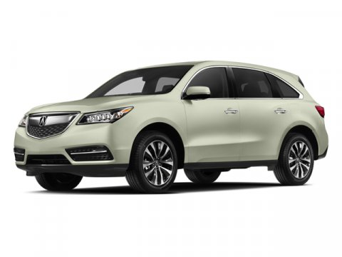 2014 Acura MDX Tech Pkg White Diamond PearlPAPARCHMENT V6 35 L Automatic 10 miles  All Wheel