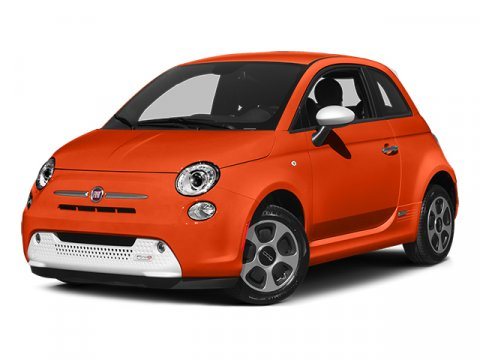 2014 FIAT 500e Electric Orange Tri-Coat PearlcoatWHITE V 00 Automatic 3 miles  Electric Motor