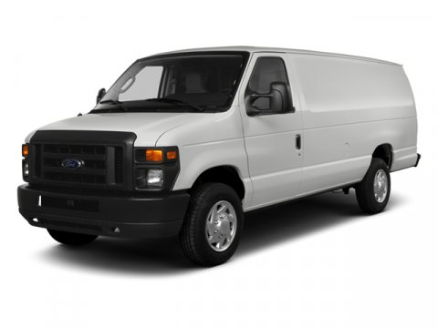 2014 Ford Econoline Cargo Van Commercial Oxford WhiteMed Flint Clth Buckt Seat V8 54 L Automatic