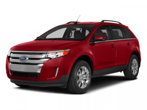 2014 Ford Edge Limited White Platinum Metallic Tri-CoatSienna wCharcoal Black V6 35 L Automatic