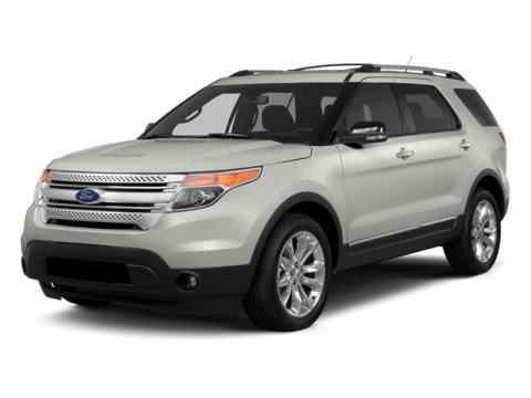 2014 Ford Explorer Base Oxford White7L CLOTH BUCKET MEDIUM LIGHT STONE INTERIOR V6 35 L Automati