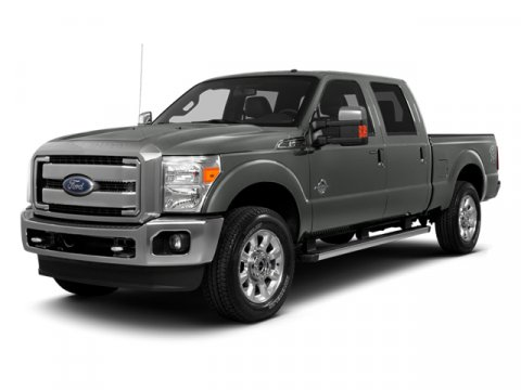 2014 Ford Super Duty F-250 SRW Oxford White6B Leather 402040 Seat Black V8 67 L Automatic 12