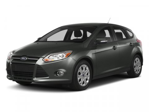 2014 Ford Focus Titanium Sterling Gray Metallic2W Leather-Trim Sport Bkt Seats Charcoal Black Trim