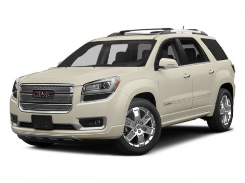 2014 GMC Acadia Denali White Diamond TricoatEbony V6 36L Automatic 0 miles  HID headlights  H