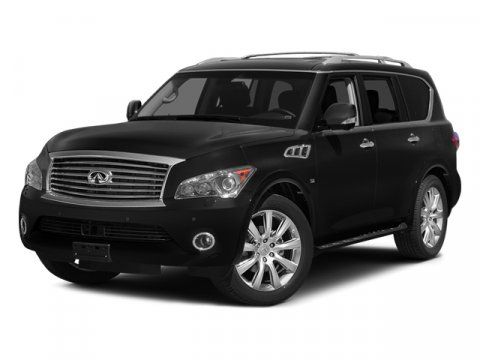 2014 INFINITI QX80 2WD 4dr Moonlight WhiteWheat V8 56 L Automatic 75316 miles Boasts 20 Highw