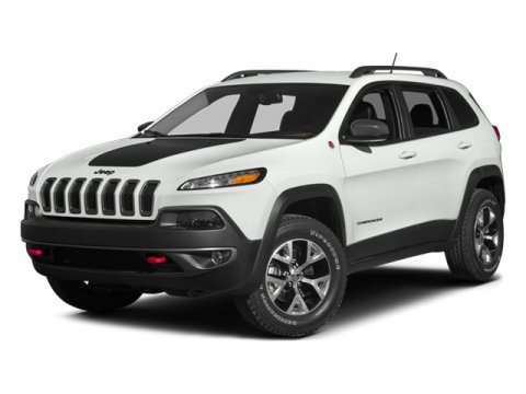 2014 Jeep Cherokee Trailhawk Bright White ClearcoatBlack V6 32 L Automatic 5 miles  BLACK HOOD