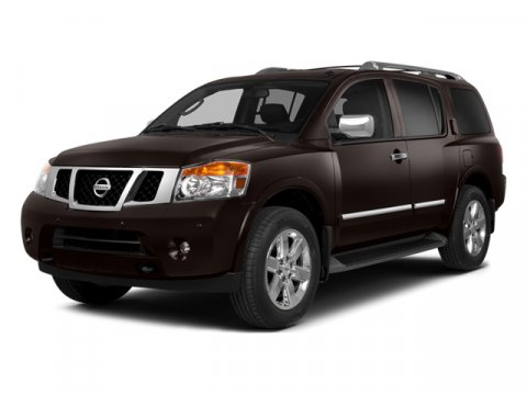 2014 Nissan Armada SV Midnight Garnet V8 56 L Automatic 10 miles  Four Wheel Drive  Tow Hitch