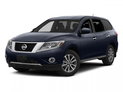 2014 Nissan Pathfinder SL Moonlight WhiteGCHARCOAL V6 35 L Variable 1 miles  B92 BLACK SPLA