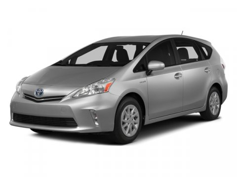 2014 Toyota Prius v Two Barcelona Red MetallicBisque V4 18 L Variable 0 miles  CARPET FLOOR MA