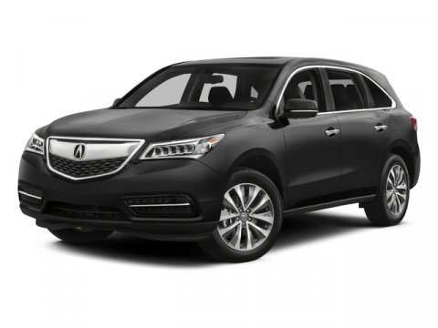 2015 Acura MDX Tech Pkg Crystal Black PearlParchment V6 35 L Automatic 0 miles  All Wheel Driv