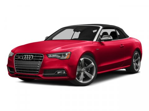 2015 Audi S5 Cabriolet Premium Plus Moonlight Blue MetallicBlack RoofBlackMagma Red V6 30 L A