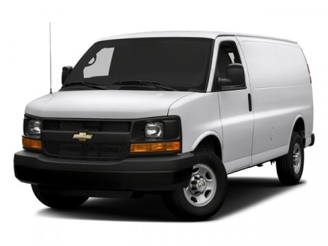 2015 Chevrolet Express Cargo Van Summit WhiteMedium Pewter V8 60L Automatic 2 miles  AUDIO SYS