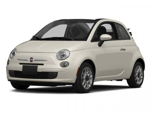 2015 FIAT 500 Lounge Convertible FWD Bianco WhiteNero Black V4 14 L Automatic 17955 miles