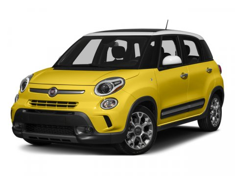 2015 FIAT 500L Grigio Scuro Gray MetallicBrown V4 14 L Automatic 5 miles  Turbocharged  Fr