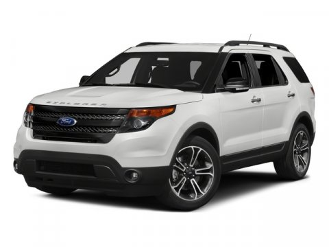 2015 Ford Explorer Sport 4X4 White Platinum Metallic Tri-CoatCharcoal BlackSienna V6 35 L Autom
