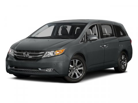 2015 Honda Odyssey Touring Dark Cherry PearlBeige V6 35 L Automatic 5 miles  BEIGE LEATHER SE