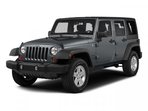 2015 Jeep Wrangler Unlimited Sahara Bright White ClearcoatBlack V6 36 L Manual 14 miles  23G E