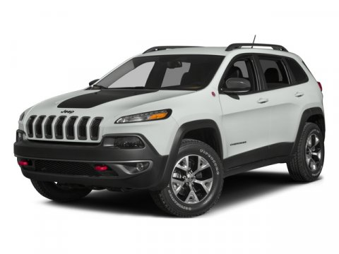 2015 Jeep Cherokee Trailhawk Bright White Clearcoat V6 32 L Automatic 14130 miles  Four Wheel