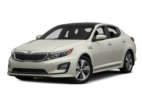 2015 Kia Optima Hybrid Snow White PearlSANDBLACK V4 24 L Automatic 7 miles  BUMPER APPLIQUE