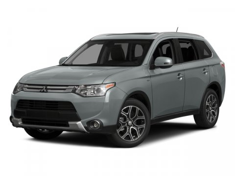 2015 Mitsubishi Outlander SE Cool Silver MetallicBLACK V4 24 L Variable 8 miles  Four Wheel Dr