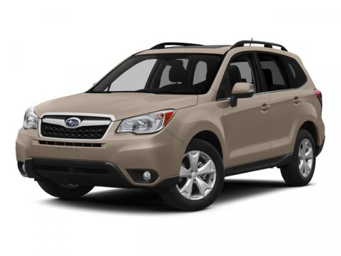 2015 Subaru Forester 25i Premium Satin White PearlGray V4 25 L Variable 0 miles  ALL WEATHER