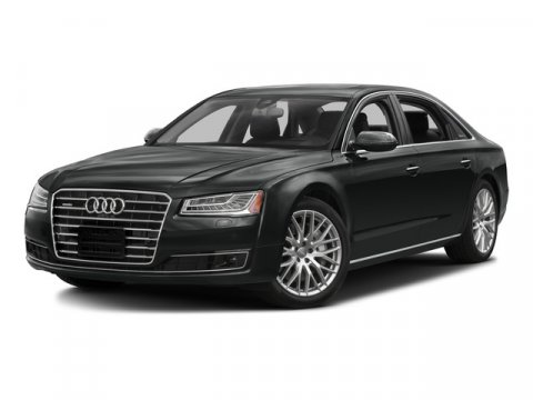 2016 Audi A8 L 30T Monsoon Gray MetallicBlack V6 30 L Automatic 36 miles  BLACK CLOTH HEADLI