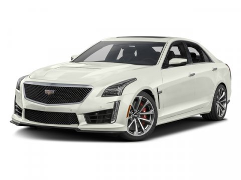 2016 Cadillac CTS-V Sedan Crystal White TricoatLT PLATINUM  JET BLACK ACCENT V8 62L Automatic