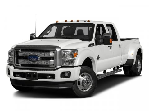 2016 Ford Super Duty F-350 DRW Platinum 4X4 White Platinum Metallic Tri-CoatPecan V8 67 L Autom