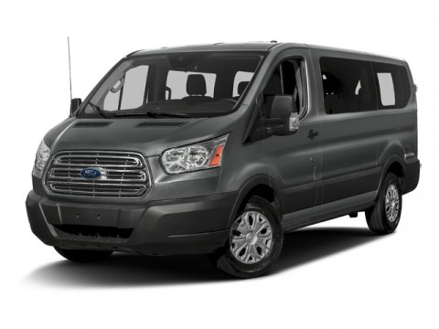 2016 Ford Transit Wagon XLT wLow Roof w6040 Side Do WhiteBlack V6 37 L Automatic 46624 mile