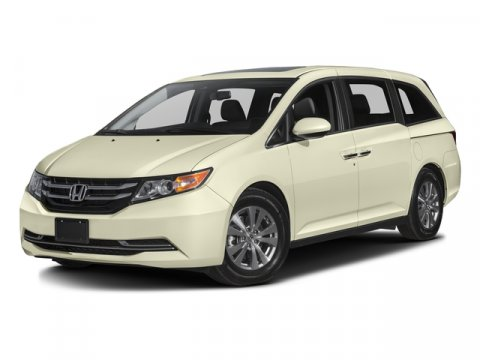 2016 Honda Odyssey EX-L White Diamond PearlTRUFFLE CLOTH V6 35 L Automatic 2 miles   Stock