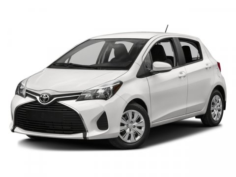 2016 Toyota Yaris LE Super WhiteBlack wCircle Design V4 15 L Automatic 0 miles  LE PACKAGE