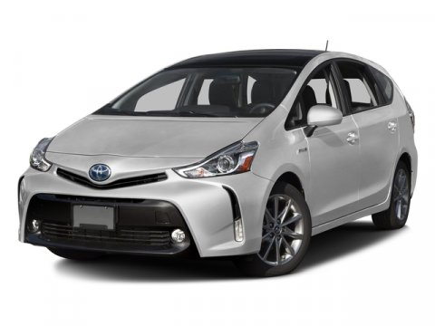2016 Toyota Prius v Five Super WhiteBlack V4 18 L Variable 5 miles  ADVANCED TECHNOLOGY PACKA