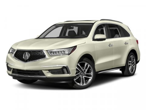 2017 Acura MDX wAdvanceEntertainment Pkg White Diamond PearlEbony V6 35 L Automatic 7 miles