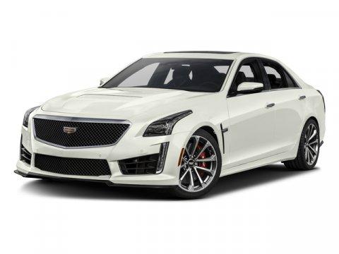 2017 Cadillac CTS-V Sedan Crystal White TricoatJet Black wJet Black accents V8 62L Automatic