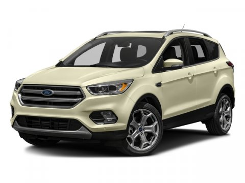 2017 Ford Escape Titanium White Platinum Metallic Tri-CoatDl Leather-Trim Bucket Seats Medium Lig