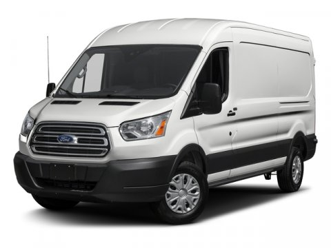 2017 Ford Transit Van Base WhitePewter V6 37 L Automatic 6 miles  PEWTER CLOTH FRONT BUCKET S