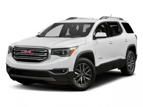2017 GMC Acadia SLT White Frost TricoatJet Black V6 36L Automatic 0 miles  RO  Rear Parking