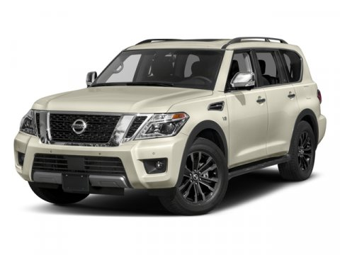 2017 Nissan Armada Platinum Gun Metallic V8 56 L Automatic 10 miles Boasts 18 Highway MPG and