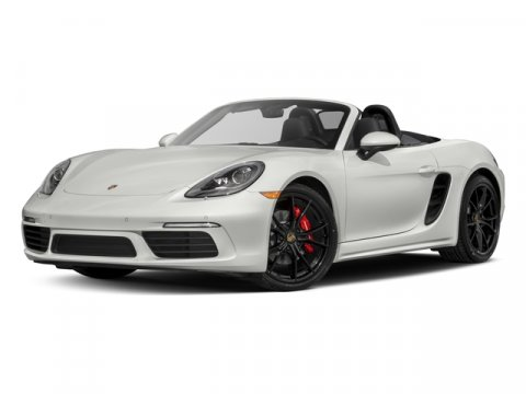 2017 Porsche 718 Boxster S Carrara White MetallicBordeaux Red V4 25 L  10 miles  Turbocharged
