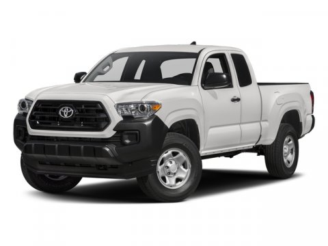 2017 Toyota Tacoma SR Super WhiteCement Gray V4 27 L Automatic 5 miles  Rear Wheel Drive  Po