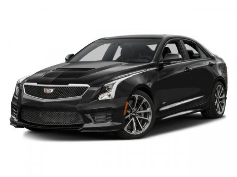 2018 Cadillac ATS-V Sedan Black RavenJet Black V6 36L Automatic 0 miles  LICENSE PLATE FRONT