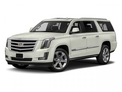 2018 Cadillac Escalade ESV Premium Luxury Crystal White TricoatKona Brown with Jet Black Accents