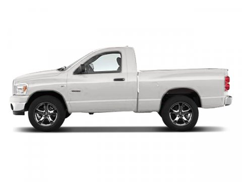 2008 Dodge Ram 1500 ST Stone White V6 37L  92696 miles  Rear Wheel Drive  Tires - Front All-