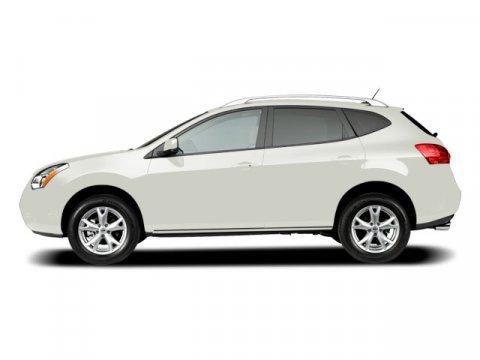 2009 Nissan Rogue L Phantom White V4 25L Variable 22044 miles  All Wheel Drive  Tow Hooks  P